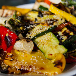 Grilled Vegetables with Sesame Dressing Recipe