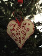 Photo: Karácsonyfadísz filcből
