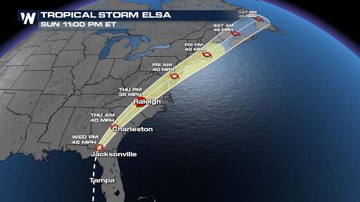 Elsa Takes Aim At Northeast Late Week