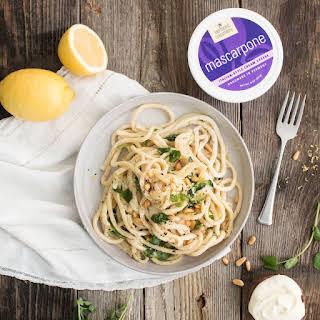 Lemon-Mascarpone Pasta With Pea Shoots.
