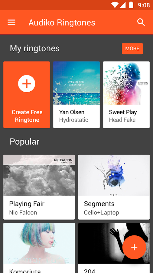 Audiko ringtones- screenshot