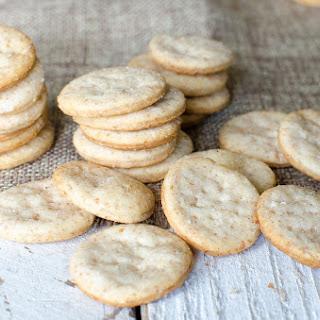 Buttery Sourdough Crackers