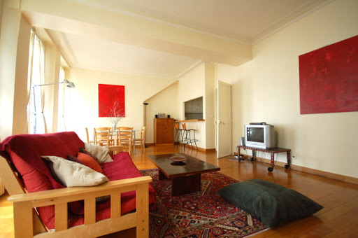 Bright living room at 2 Bedroom Family Apartment in Louvre and Les Halles