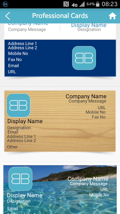 BoBL – Digital Business Cards- screenshot