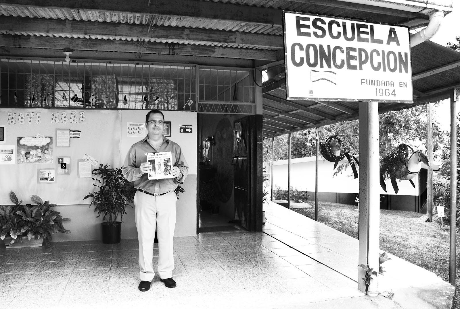 En el centro educativo Concepción de la Palmera en San Carlos llevó a cabo su formación primaria como escuela unidocente. (Foto: Ruth Garita/OCM)