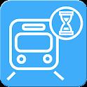電車の時刻カウントダウンアプリ icon