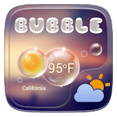 Bubble GO Weather Widget Theme