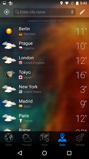 WEATHER NOW Forecast & Widget for PC