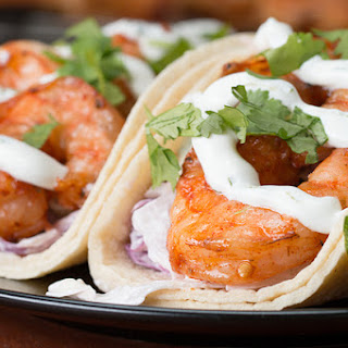 1. Grilled Shrimp Tacos With Creamy Cilantro Sauce
