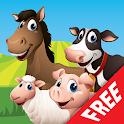 Farm Animal Match Up Game Free icon