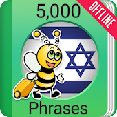 Learn Hebrew Phrasebook - 5000 Phrases