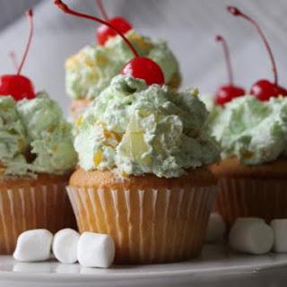 Pistachio Ambrosia Cupcakes