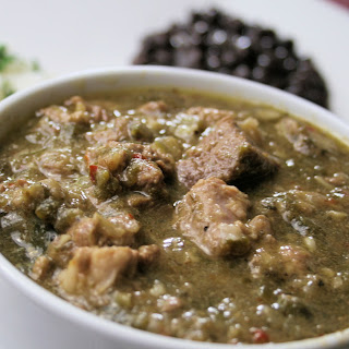 Traditional New Mexican Style Guisado de Chile Verde (Green Chile Stew).