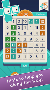 Plus15 - FREE new puzzle game- screenshot thumbnail