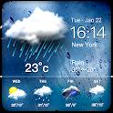 Daily weather forecast widget☂ icon