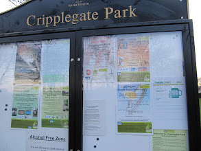 Photo: Cripplegate city park, showing some of the events in the park