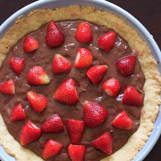 Nutella Pudding Strawberry Tart.