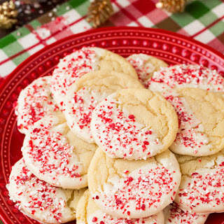 White Chocolate Dipped Peppermint Sugar Cookies