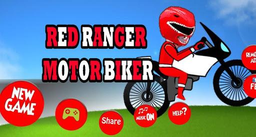 Power Red Rangers Motorbike