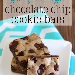 Gluten Free Vegan Chocolate Chip Cookie Bars