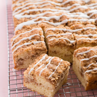 Marbled Coffee Cake with Nutty Crumb Streusel.