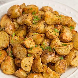 Roasted Potatoes Oreganata.