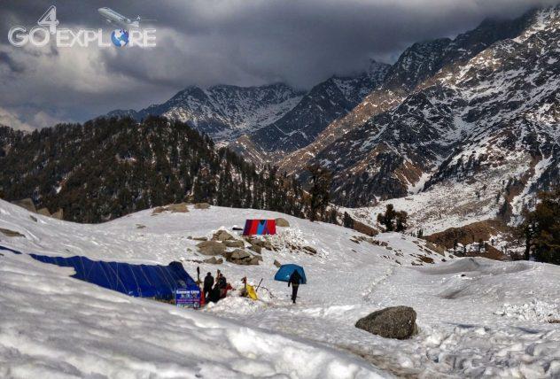 Trek to Snowline- Trek Above The Triund in -16 degree Winter