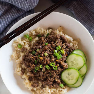 Korean Ground Beef Bowls.
