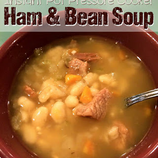 Ham and White Bean Soup - Instant Pot Pressure Cooker