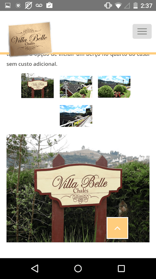 Villa Belle Chalés- screenshot