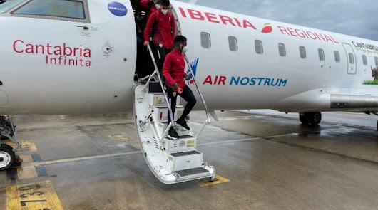 La expedición del Almería regresa este martes