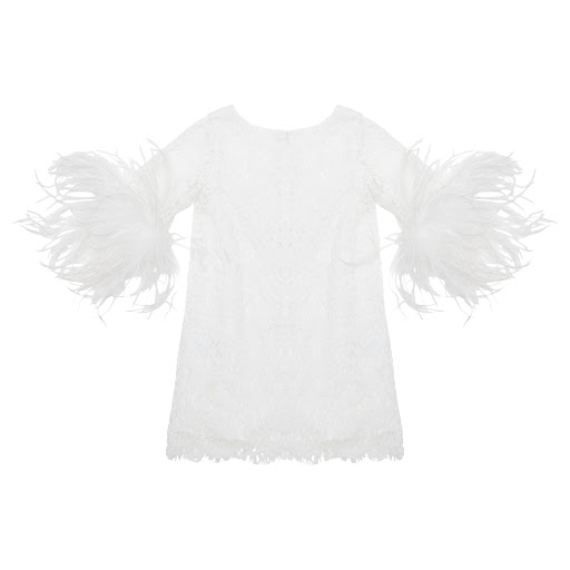 Thumbnail images of Charabia Lace & Feather Dress