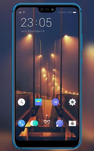 Street lights theme | xiaomi poco f2 launcher screenshot 1