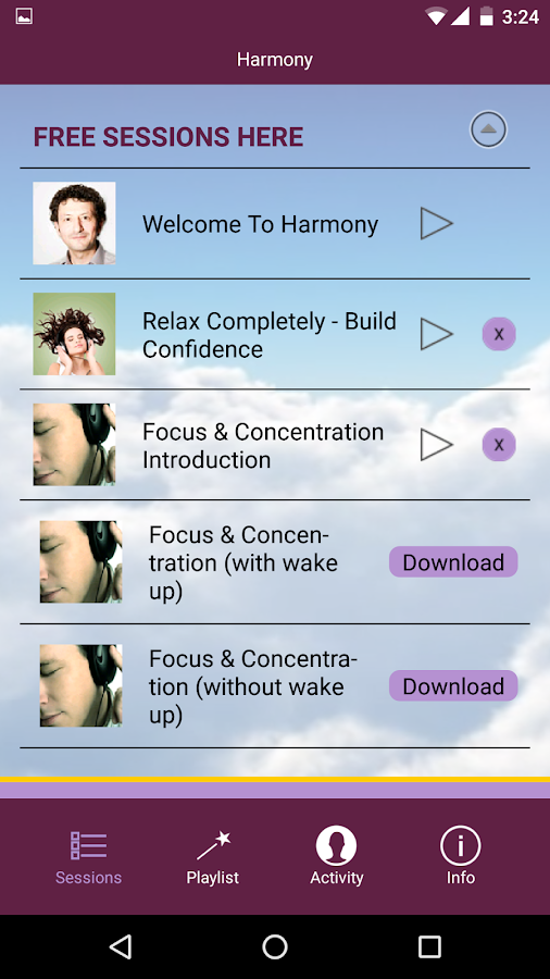 Harmony - Hypnosis Meditation- screenshot