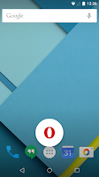 Screenshot of Opera browser for Android beta