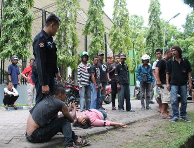 Perkelahian di Alun-alun merdeka Ngawi