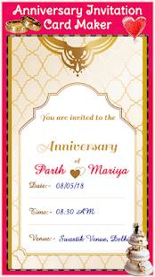 anniversary invitation card maker apps on google play