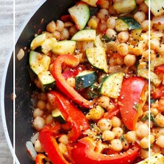 15 Minute Mediterranean Chickpea Stew.
