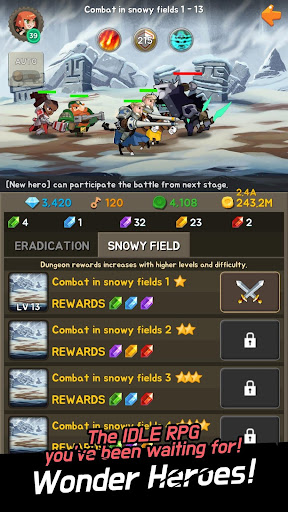 Wonder Heroes : Endless War - Idle Clicker RPG  captures d'écran 2