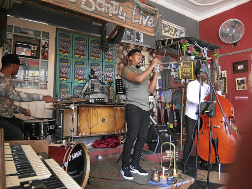 There be vibes here: Roving Bantu Kitchen provides a platform for new and established jazz artists. But it's more than a music venue; it combines culture, cuisine and chilled conversation in an environment where freedom is more than just a word. Picture: STRUAN DOUGLAS