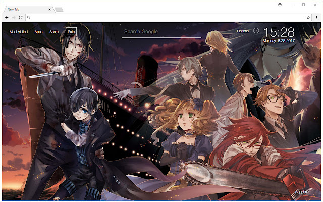 Black Butler Wallpaper HD New Tab Themes