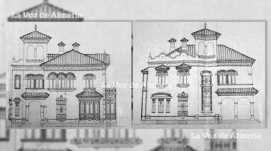 Los planos del arquitecto Langle donde se pueden ver la fachada principal y la cara norte de la casa-chalet.