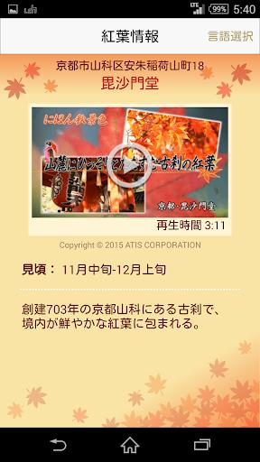 玩免費娛樂APP|下載動画でめぐる~にほん秋景色~にほんが誇る美しい紅葉 app不用錢|硬是要APP