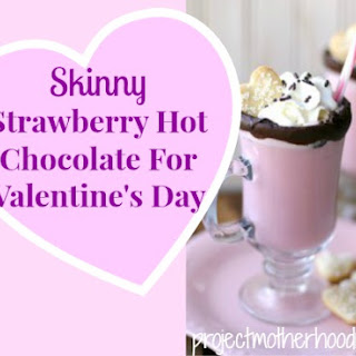 Skinny Strawberry Hot Chocolate For Valentine's Day