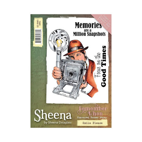 Sheena Douglass Remember When A6 Rubber Stamp - Smile Please UTGÅENDE