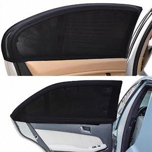 Set 2 x Parasolar negru pentru geamurile auto laterale