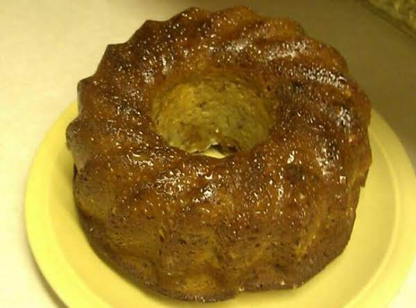 Banana Bundt Cake With Butter Sauce Recipe