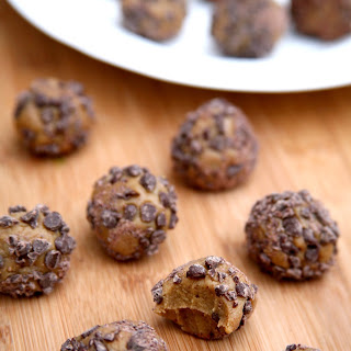 Chocolate Chip Peanut Butter Protein Balls.