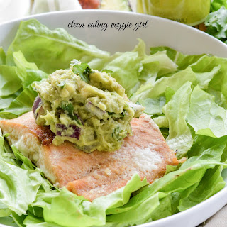 Avocado Lime Baked Salmon with Nightshade-Free Guacamole