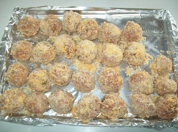 When you are ready to cook the meat balls, roll in the Panko &...